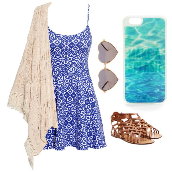 Beach Day #2 by xleahnoelx on Polyvore featuring H&M, MANGO, Valentino, Wildfox and Kate Spade