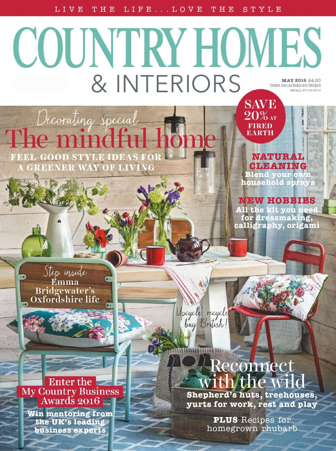 Country Homes Interiors May 2016 Country House Interior Interiors Magazine House And Home Magazine