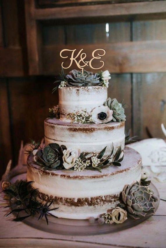 Cake Topper Hochzeit, Buchstaben Cake Topper, Cake Topper für Hochzeit, hölzerne Cake Topper, Gold oder Silber Cake Topper, rustikale Cake Topper   – Wedding cakes