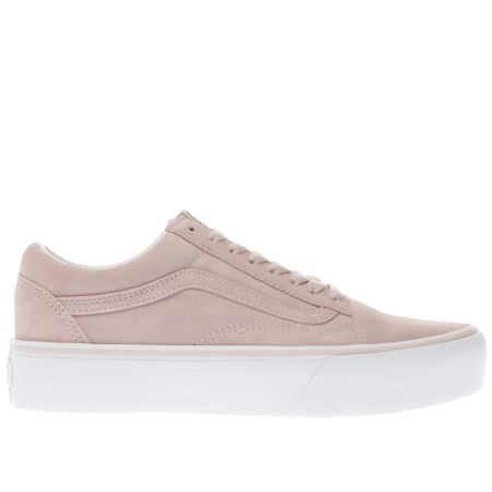 womens pale pink vans old skool platform trainers