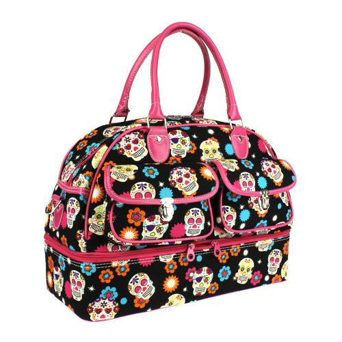 Duffle Bag Pink Sugar Skull By Sewsassybootique On Etsy