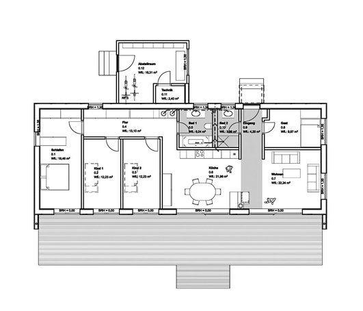 grundriss baufritz moderner bungalow haus moderner. Black Bedroom Furniture Sets. Home Design Ideas
