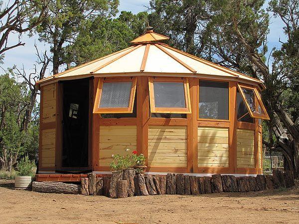 online retailer 51606 23fc2 Wooden Yurt, Isaac Murphy the owner of Turtleback Nomadic ...