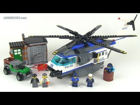 Lego City 2014 Helicopter Surveillance Set 60046 Reviewed For