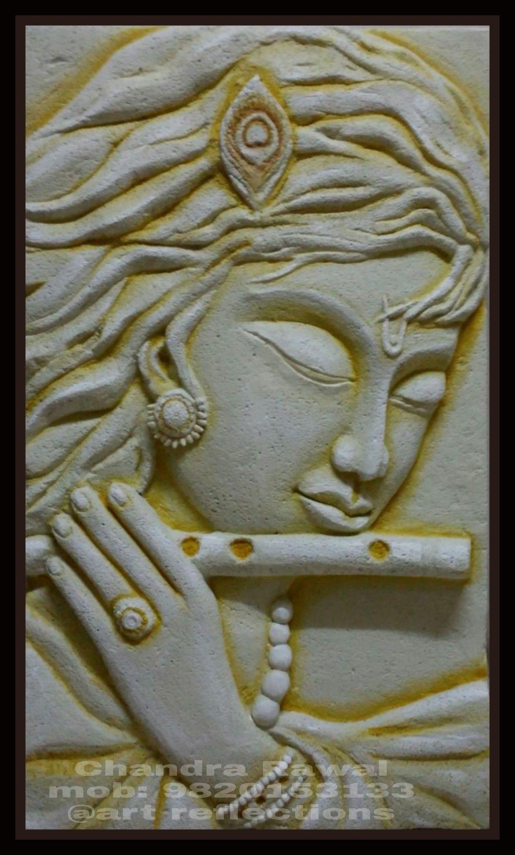 Krishna siporex 3d mural siporex 3d murals pinterest for Mural art on wood