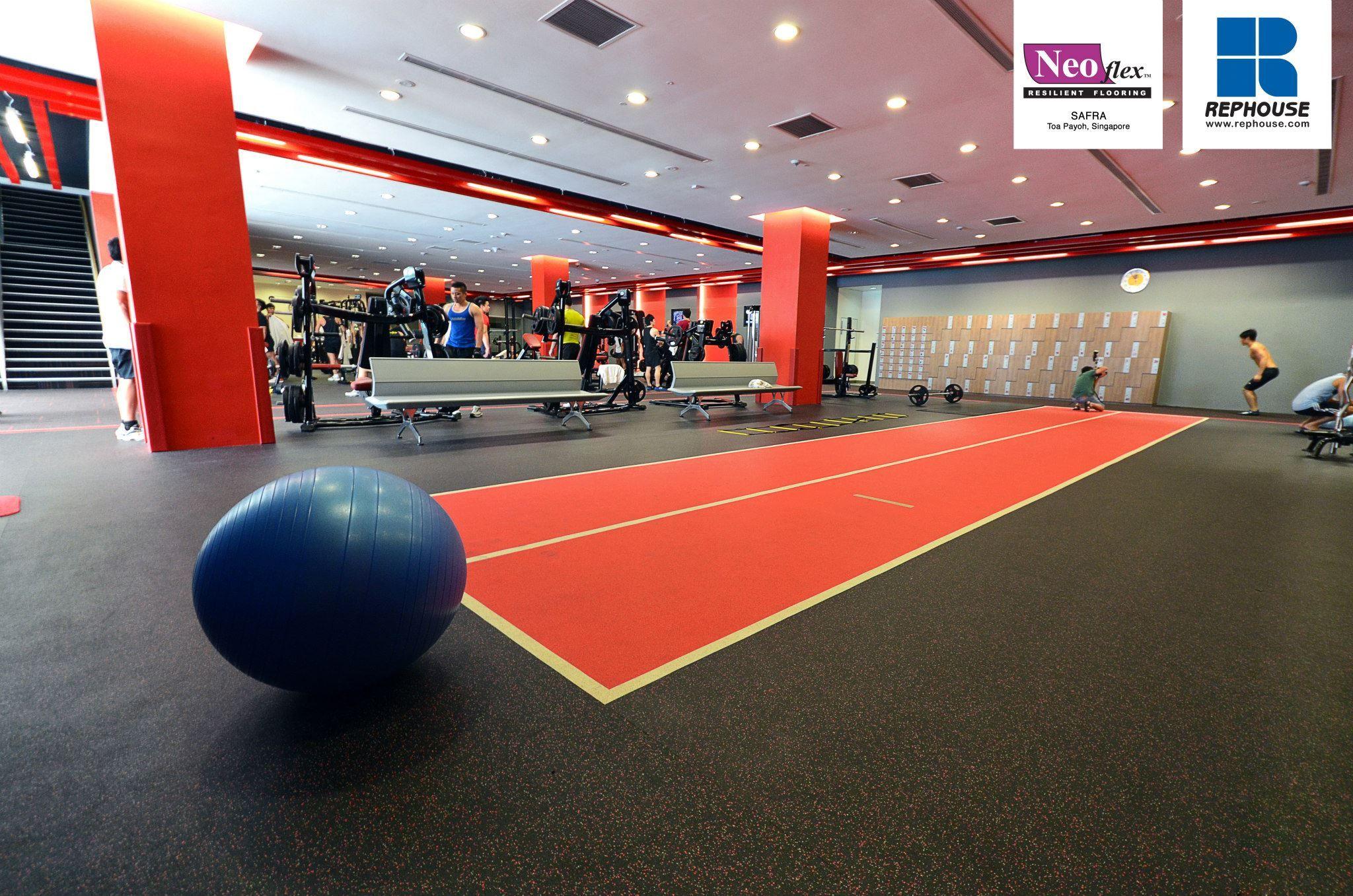 Decoflex indoor sprint fitness running track safra club