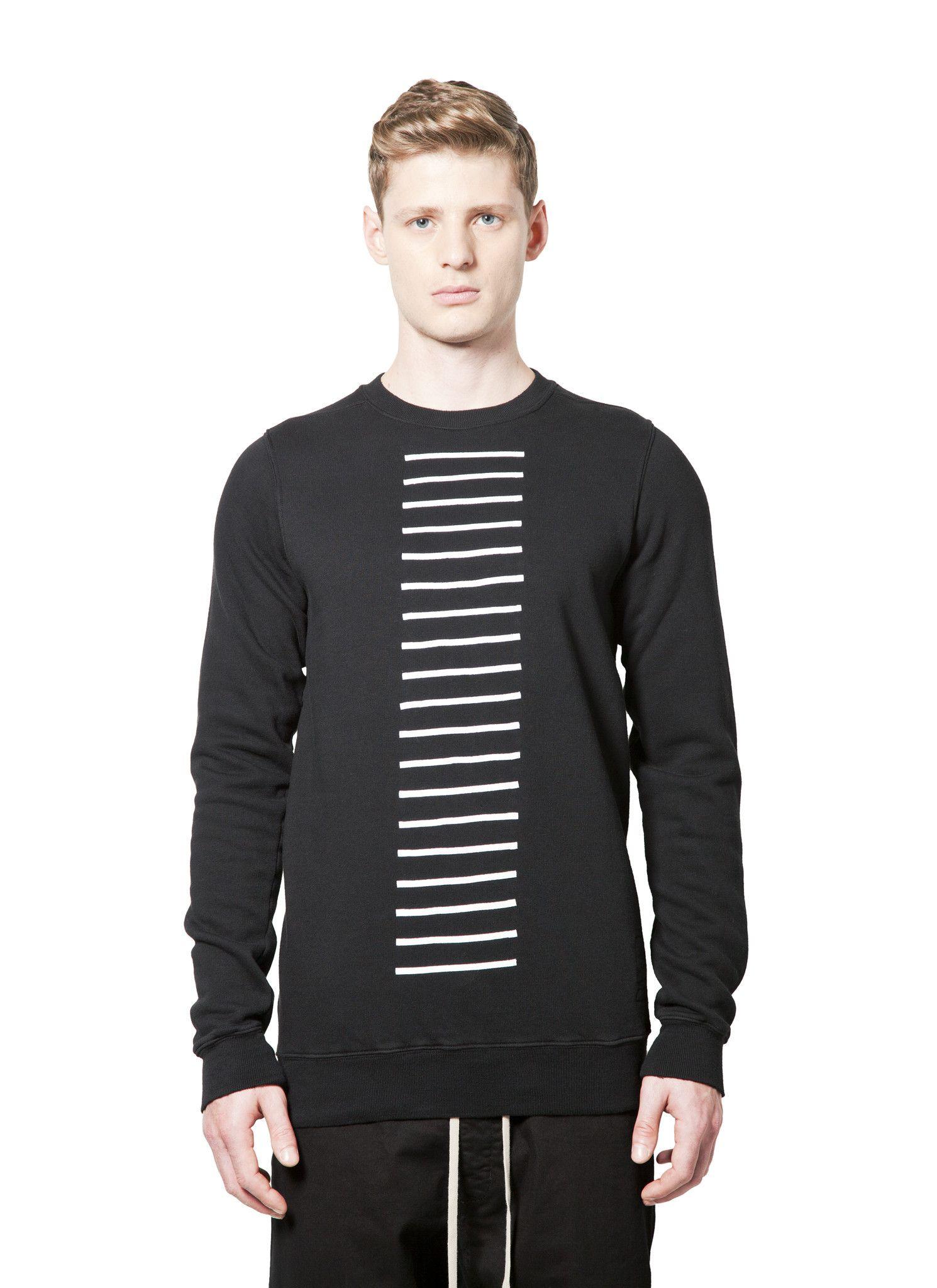DRKSHDW - Fall Winter 2014 - Menswear // Black Felpa Crewneck Sweater Hum Ribbon