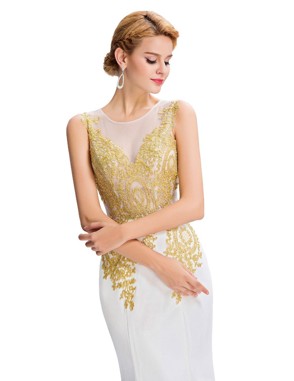 Grace karin mermaid evening dress robe de soiree longue lace
