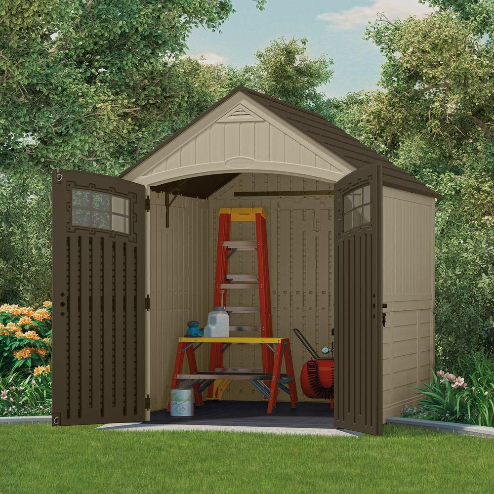 suncast sutton 7 ft 3 in x 7 ft 45 in resin storage shed - Garden Sheds 7x7