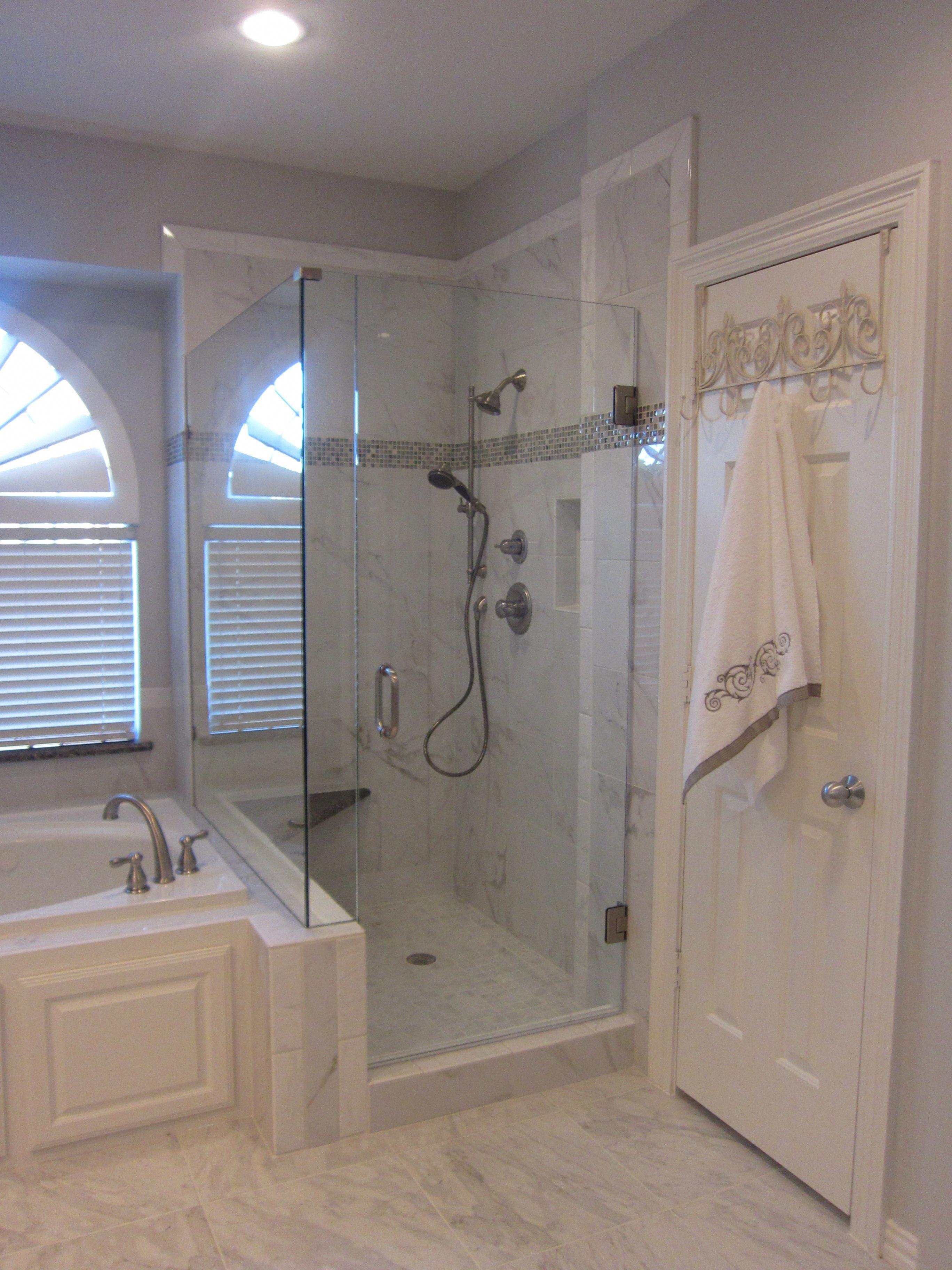 Side By Side Shower And Tub Shower Tub Bathroom Remodeling Renovation Bathroomremodeling Bathroom Remodel Shower Bathrooms Remodel Small Bathroom Remodel