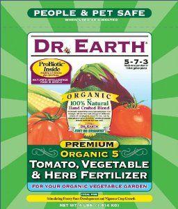 Dr  Earth 704P Organic 5 Tomato, Vegetable & Herb Fertilizer
