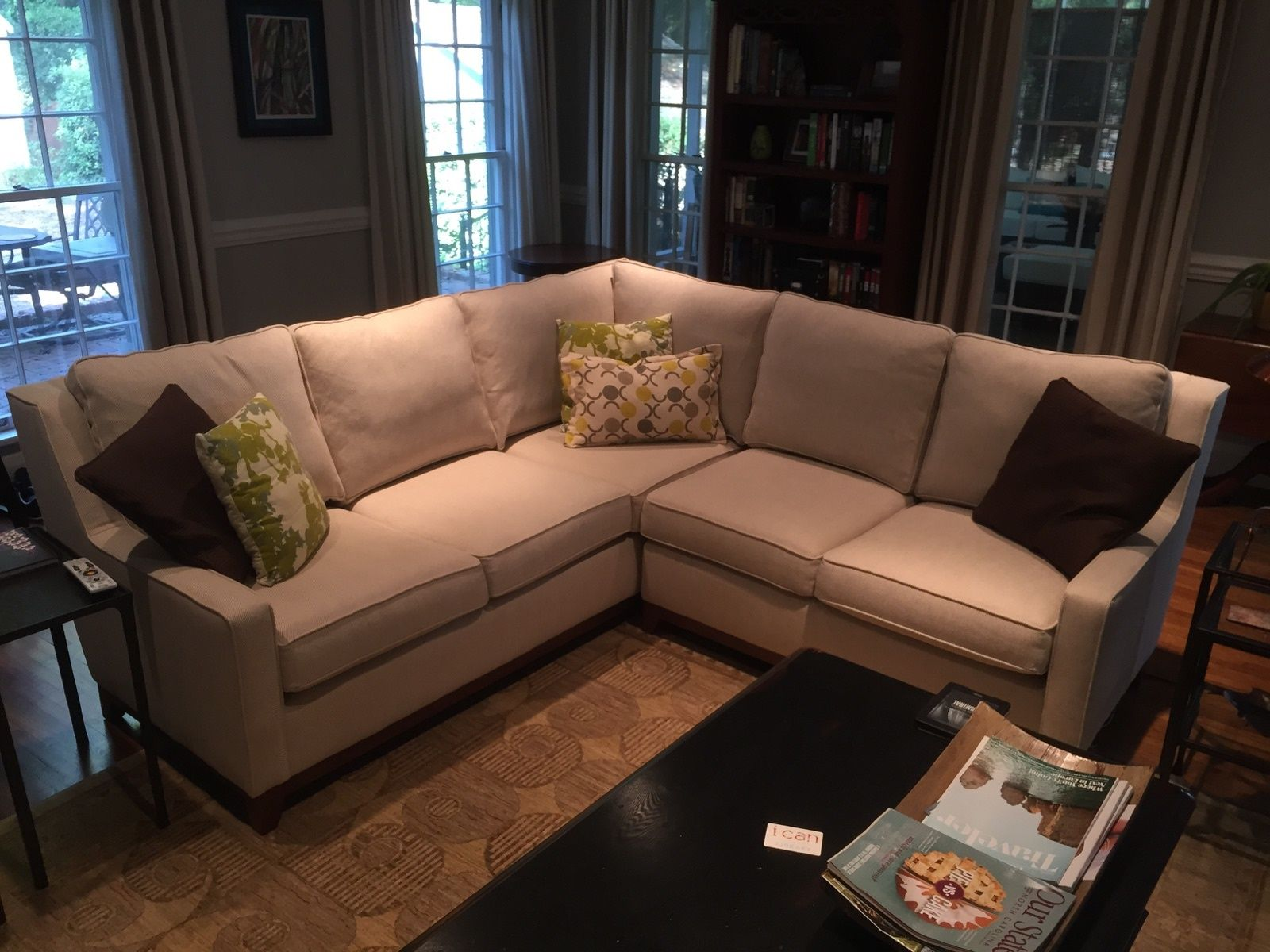Family Room CR Laine Carter Sectional in a Herringbone : carter sectional - Sectionals, Sofas & Couches