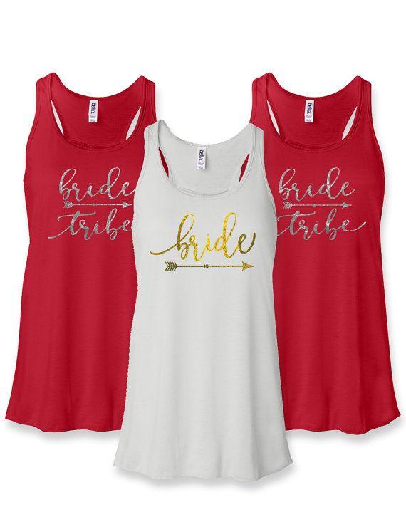 Bridesmaid Shirts Bachelorette Party Gift Bride Shirt Team Bridal Tanks