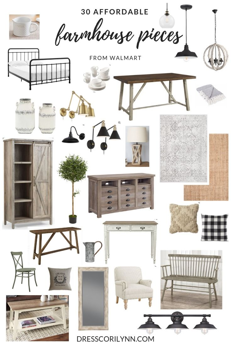 30 affordable farmhouse pieces from Walmart. - dress cori lynn #farmhousediningroom