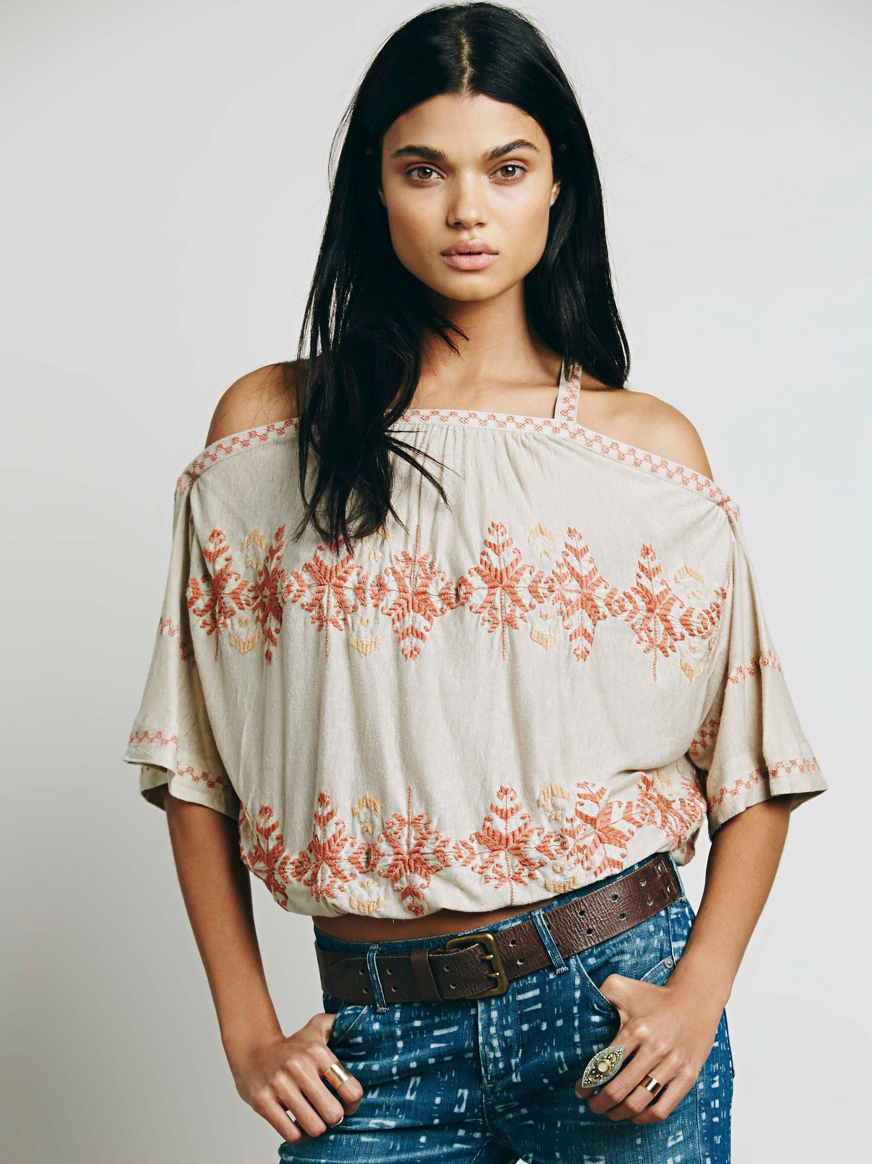 at Free People South By Blouse - dune