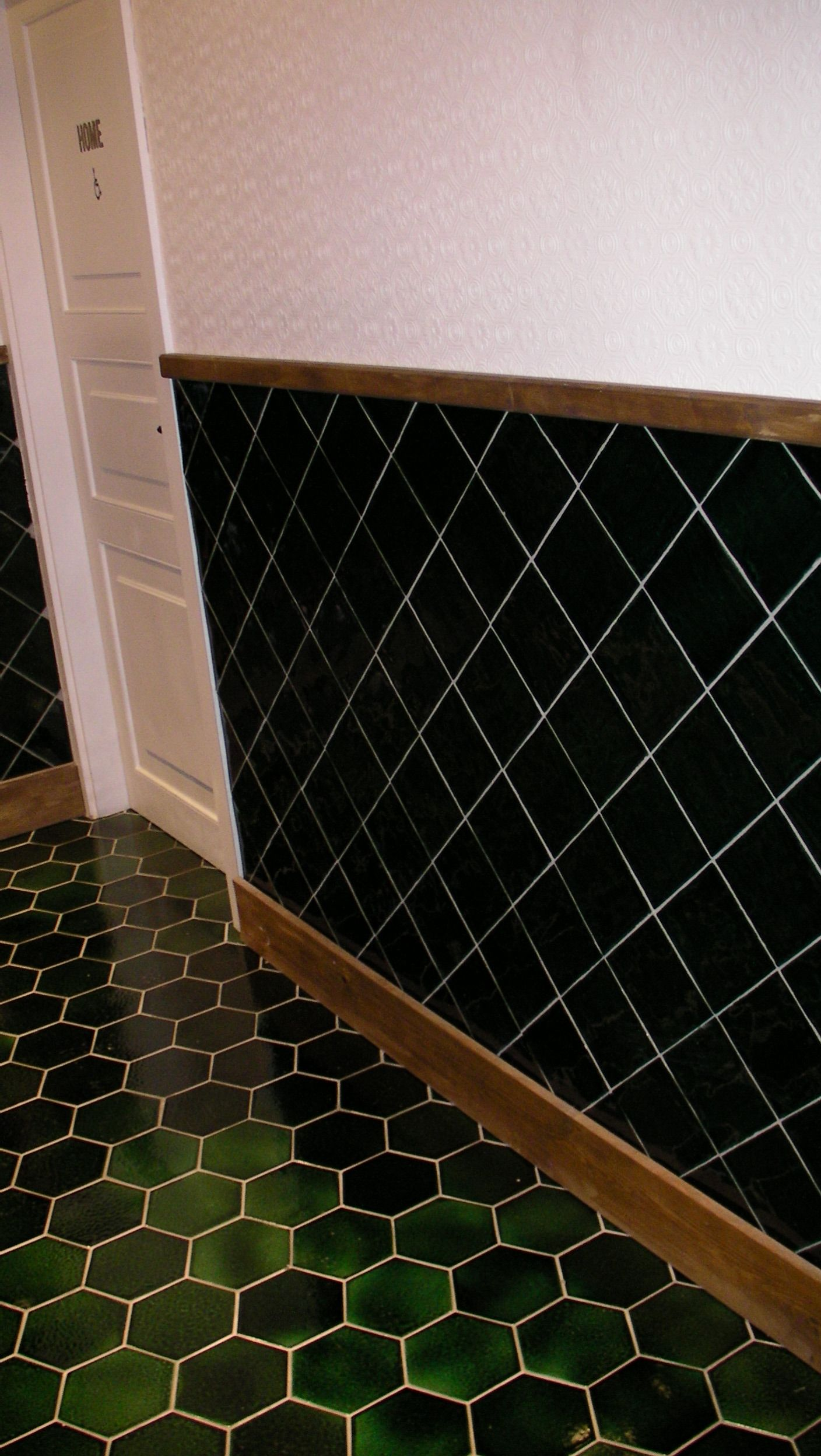 Azulejos hexagonales verdes green hexagonal tiles art antic proyectos artesanos azulejos - Baldosas hexagonales ...