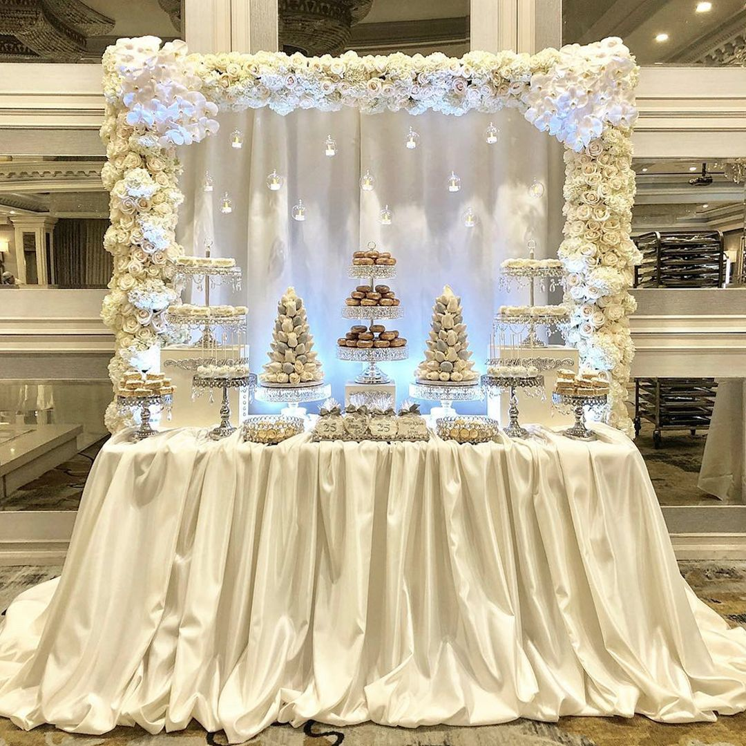 Wedding Dessert Table Wedding Dessert Table Wedding Table Linens Anniversary Dessert