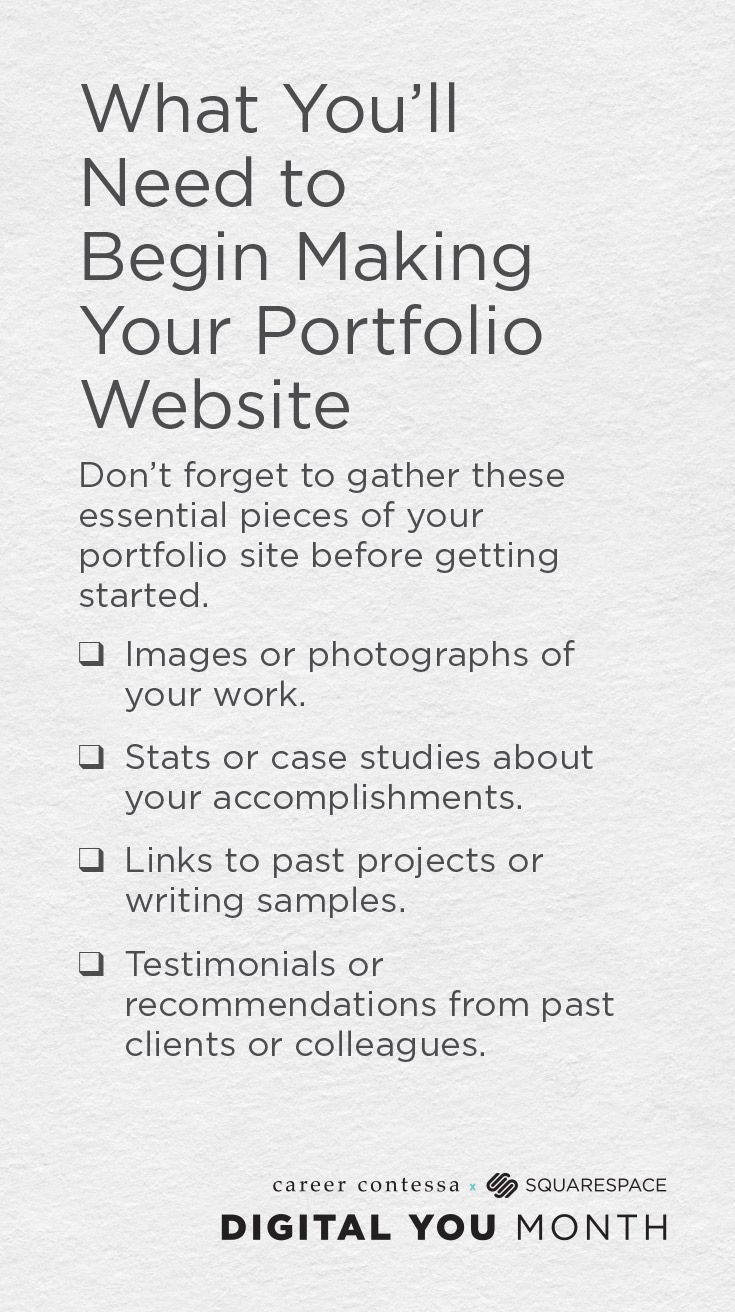 What to include on your personal portfolio website. Click for an ...