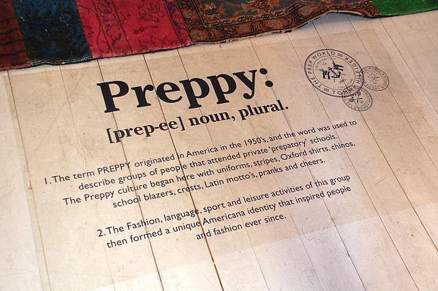 preppy tanımı: