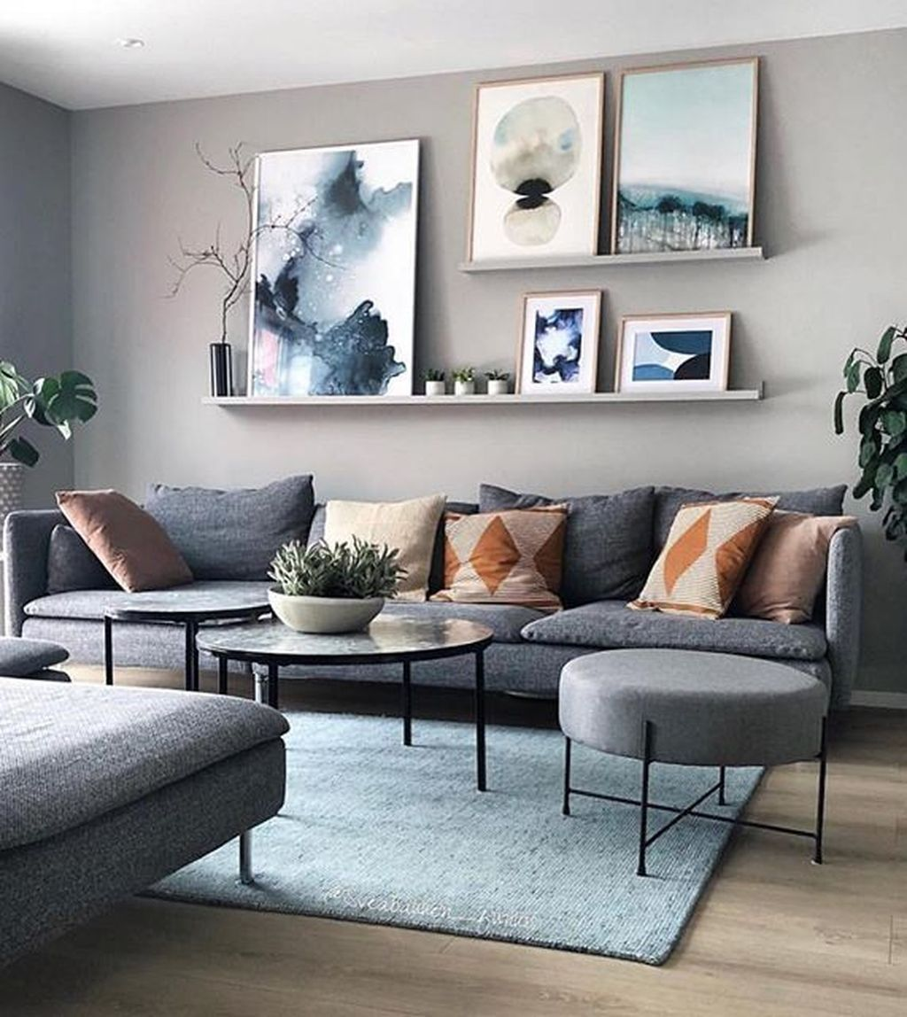 20 Elegant Wall Decoration Ideas For Large Living Room In