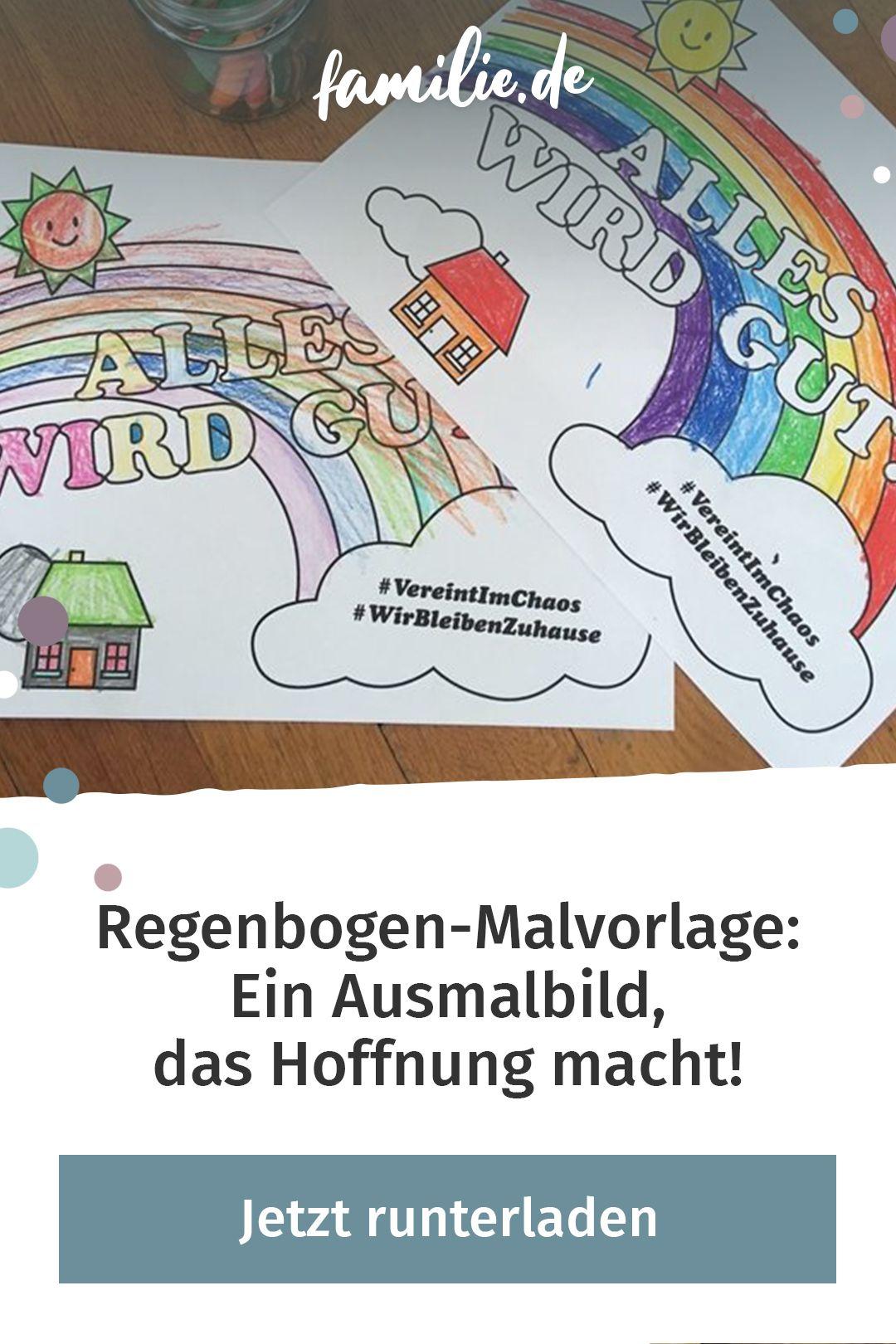 Malvorlagen Regenbogen  Malvorlage Einhorn - Kostenlose