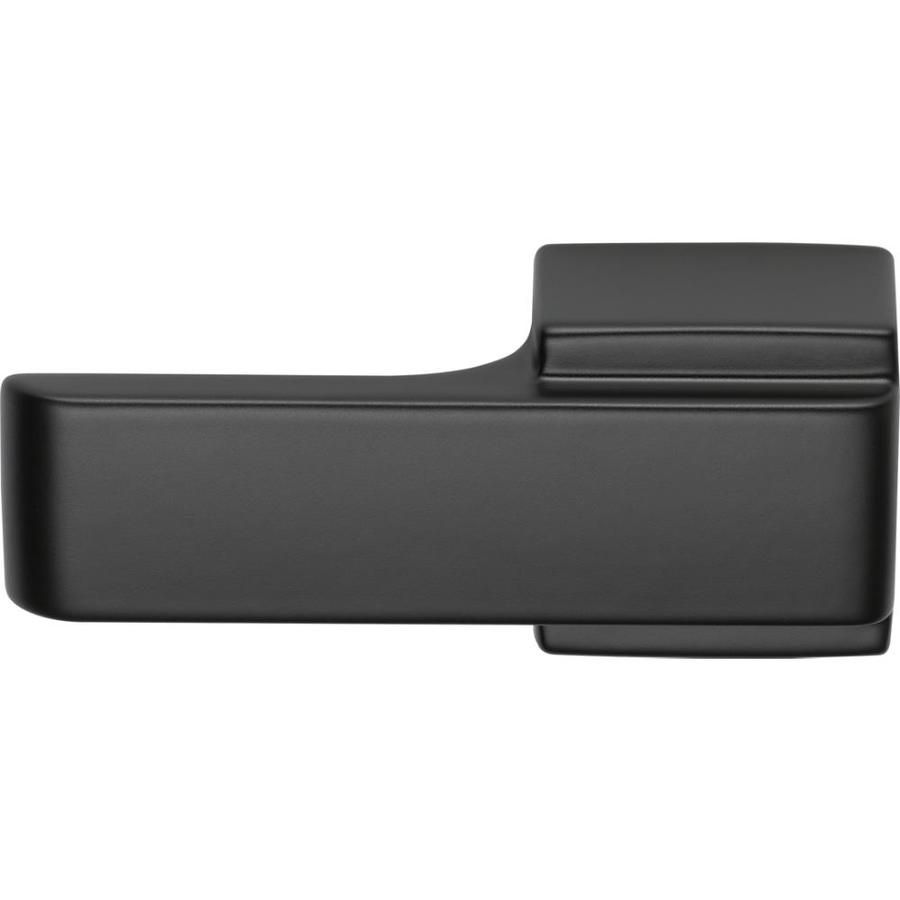 A Matte Black Kitchen Makes A Bold Statement In This: Delta Ara 6-in Flat Black Toilet Lever At Lowes.com