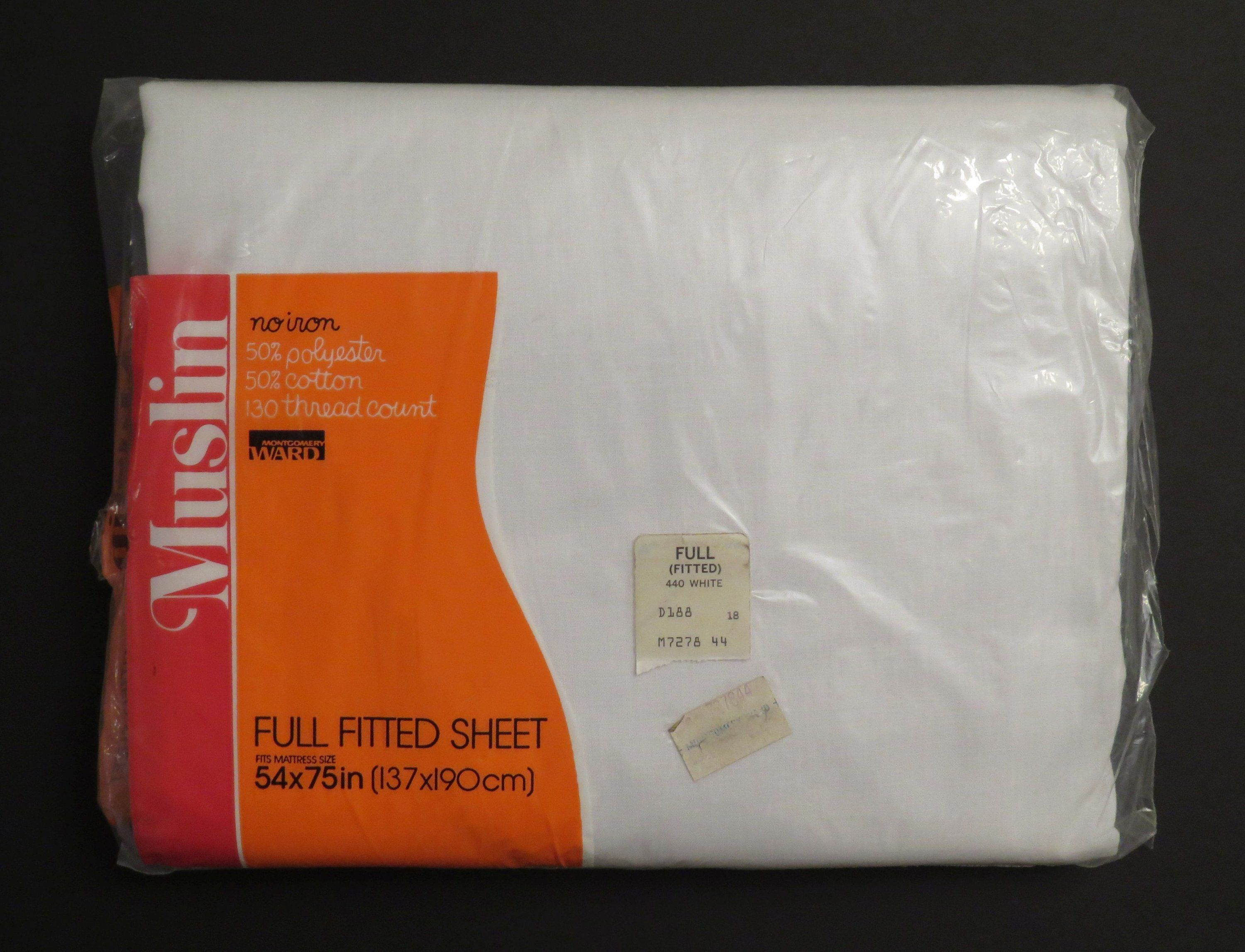 Vintage Montgomery Ward Full Fitted Sheet New In Package Montgomery Ward Fitted Sheet Sheet