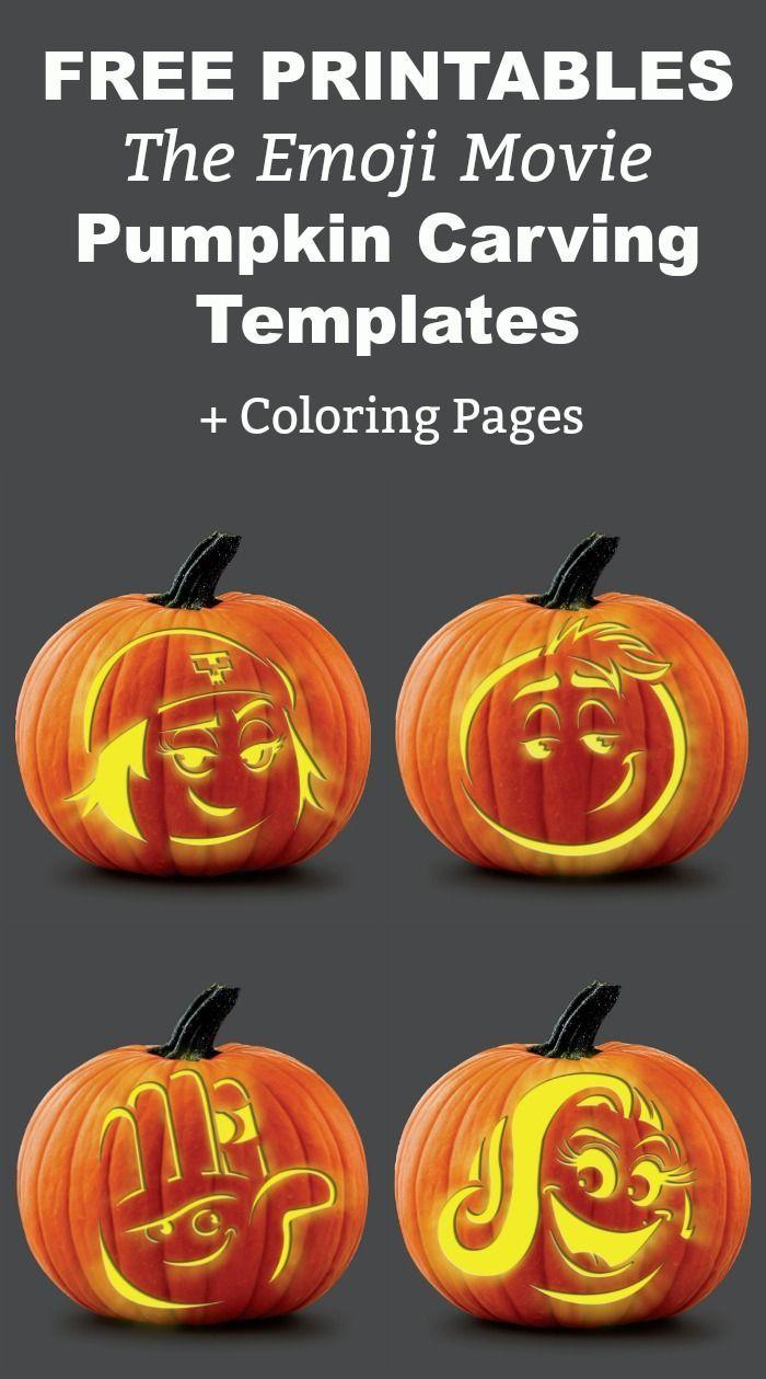 Emoji Movie Fun! Grab These FREE Printable Coloring Pages & Pumpkin ...