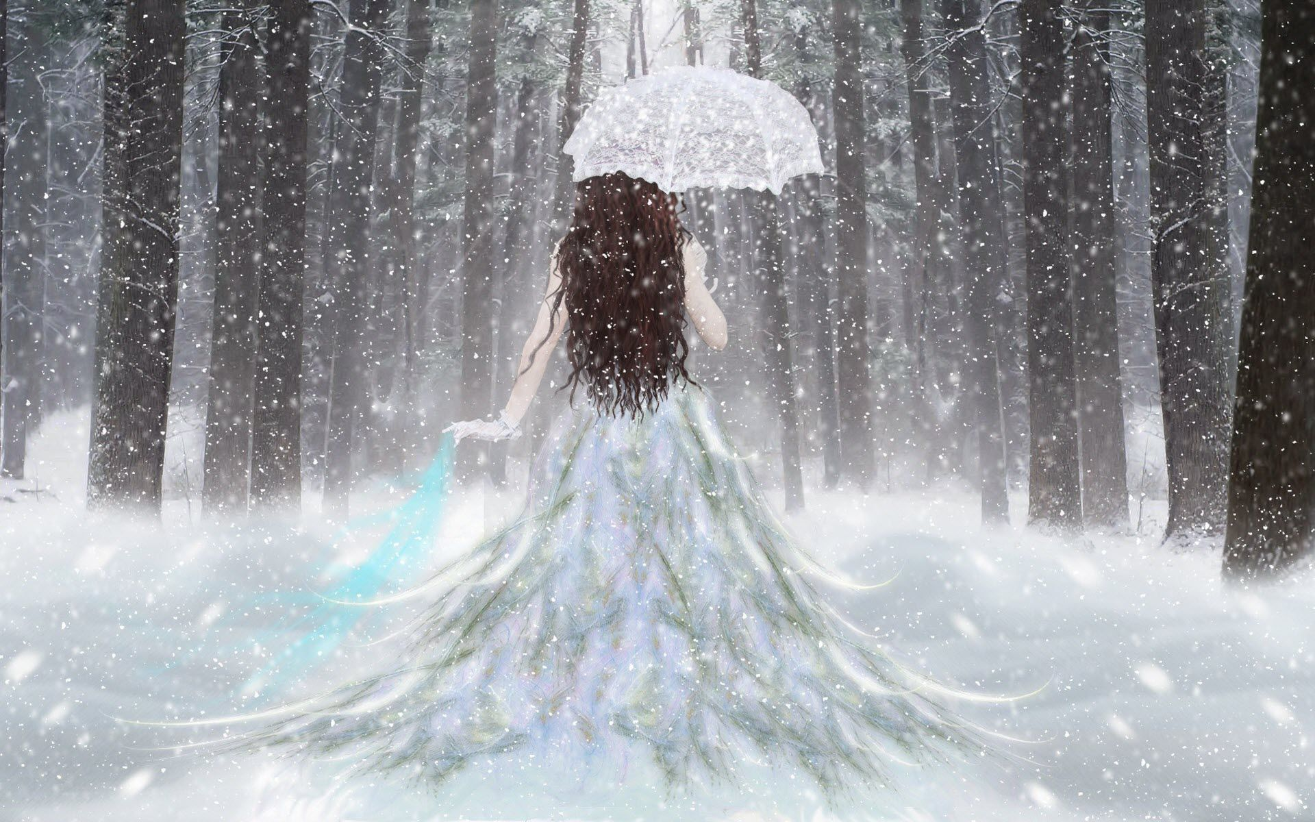 Princess of The Orient Fantasy Abstract Background Wallpapers ... for Fantasy Winter Forest Wallpaper  585eri