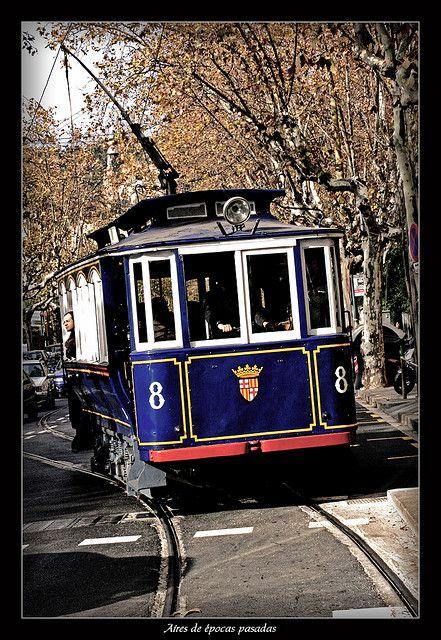 Aires De épocas Pasadas Street Cars Barcelona Train Travel