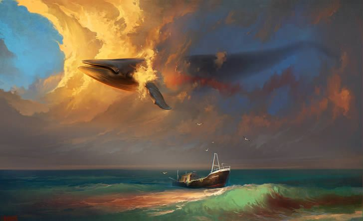 Digital art by Rhads (5) Illustrator Rhads creates surreal digital paintings that have a peaceful yet grandiose feel to them.