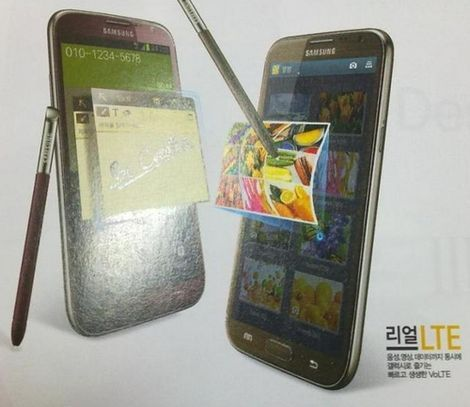 Samsung GALAXY Note 2 in red and brown leaked