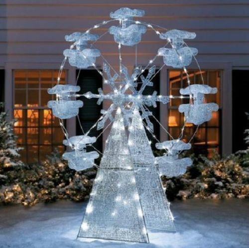 beautiful 6ft ferris wheel lighted christmas outdoor yard decor new - Christmas Ferris Wheel Decoration
