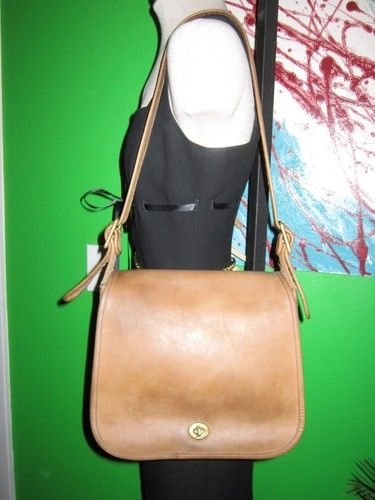 Nyc Made Authentic Coach Vintage Brown Leather Saddle Shoulder Bag Handbag Purse Ebay