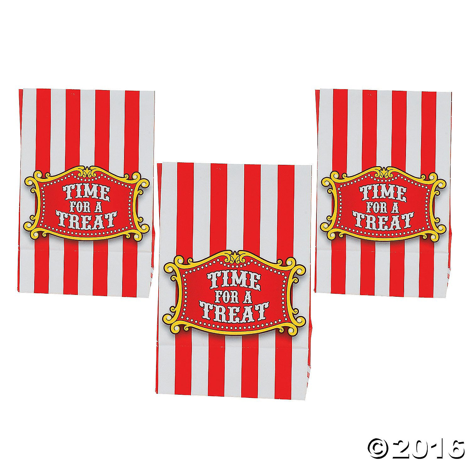 Big Top Mini Treat Bags with Tape - OrientalTrading.com