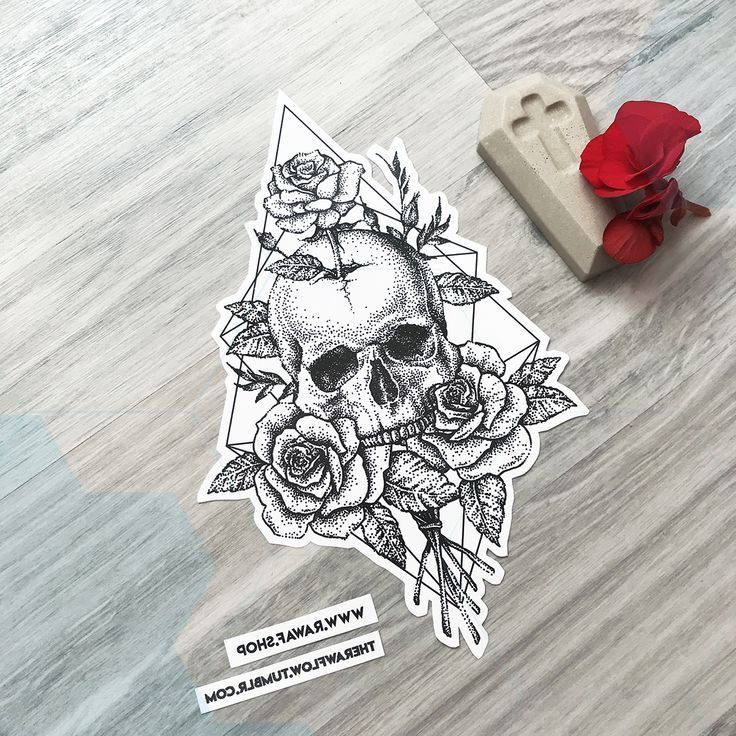 Dotwork Skull Rose Roses Tattoo Design Download Right Now Or Commission Me Www Skull Rose Tattoos Skull Tattoo Design Rose Tattoo Design