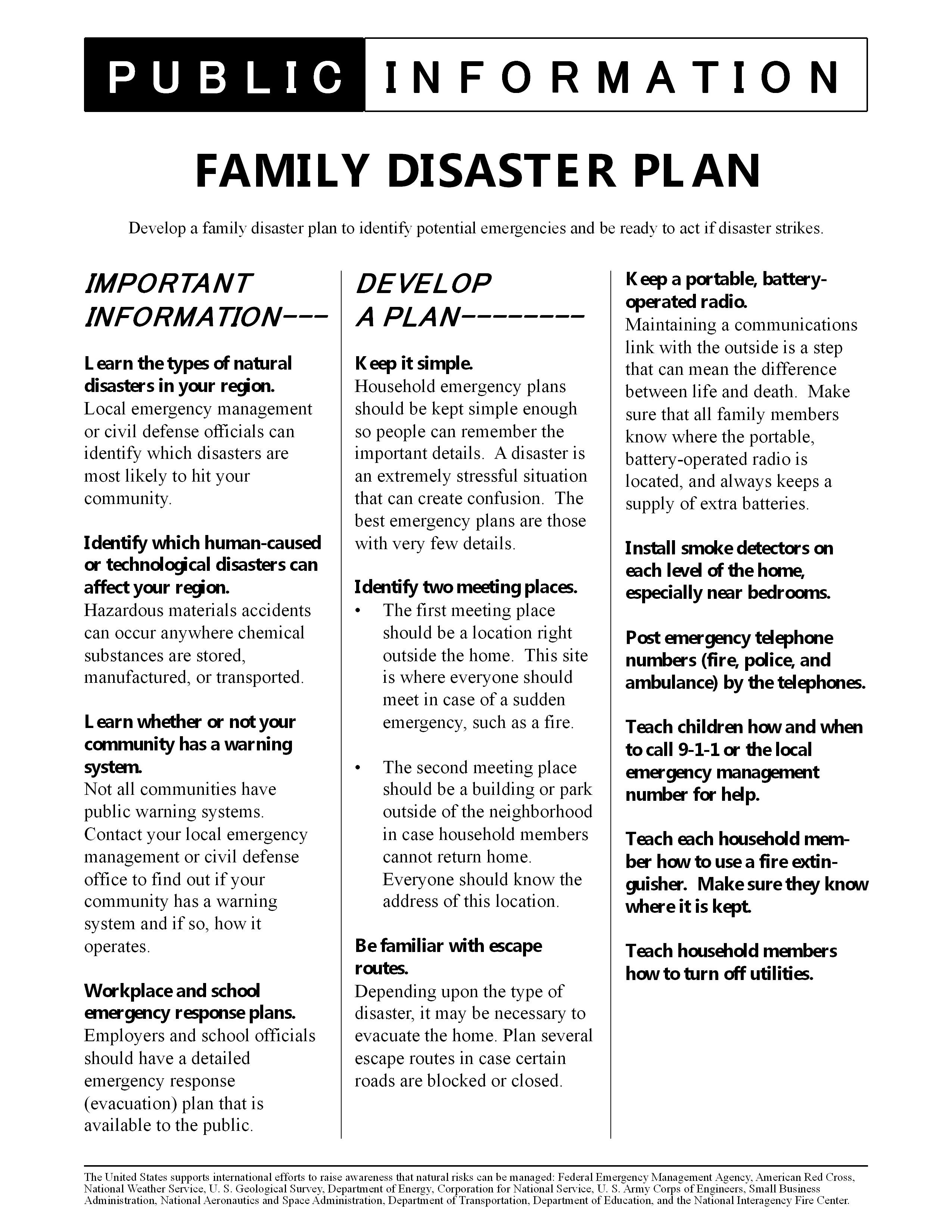Ps Family Disaster Plan 6 2 550 3 300 Pixels