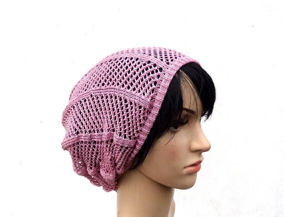 knitted lace thin light pink cotton summer women sun hat