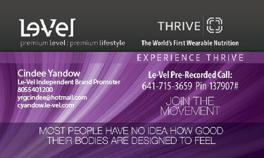 Experience Thrive Purple Business Card