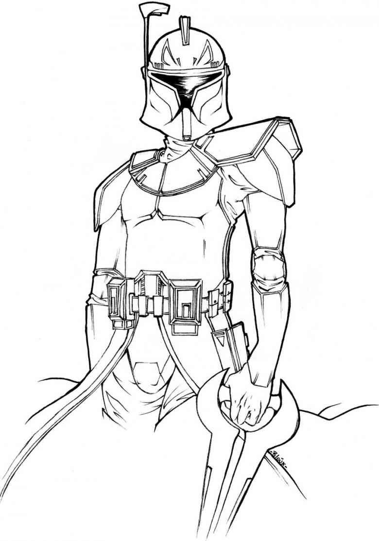 Boba Fett 15 Cartoon Coloring Pages Star Wars Colors