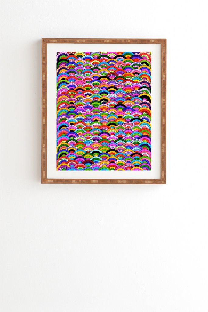 Fimbis A Good Day Framed Wall Art | DENY Designs Home Accessories #rainbow #colorful #pink #home #homedecor #interiors #interiordesign #fashionista #fashion #colourful #circles