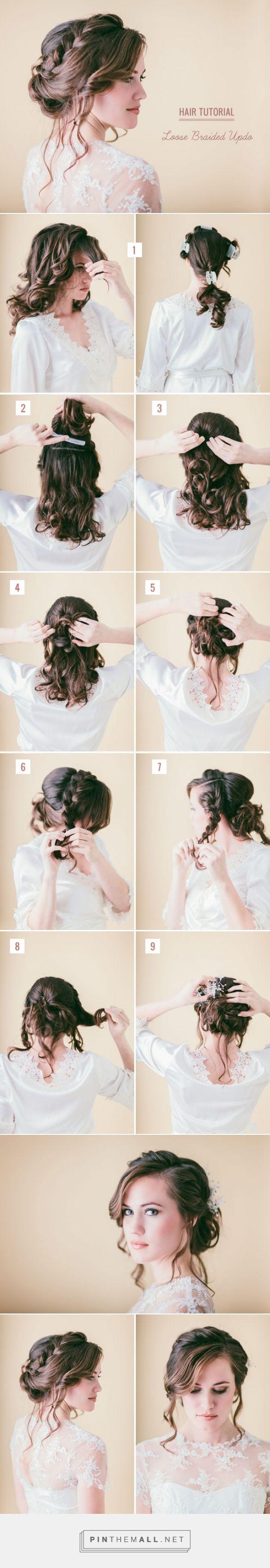 Hair Tutorial: Loose Braided Updo | Green Wedding Shoes Wedding Blog ...