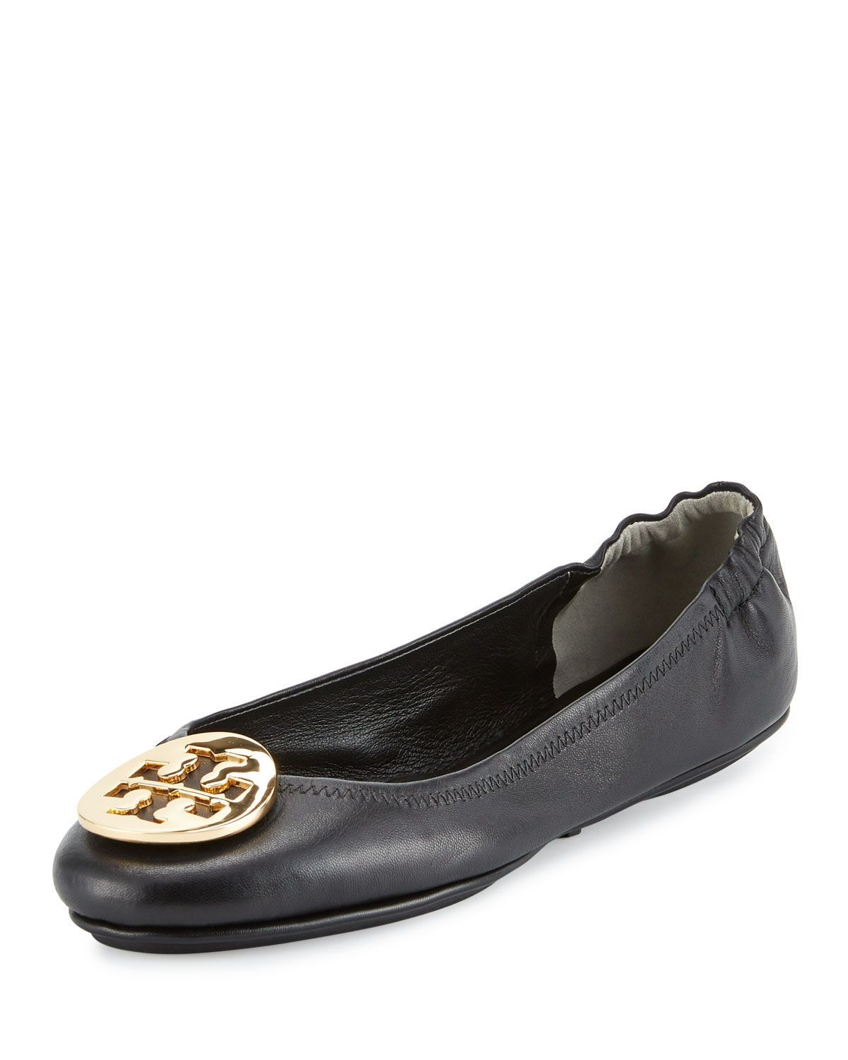 a966d612e78d5d Tory Burch Minnie Travel Logo Ballerina Flat