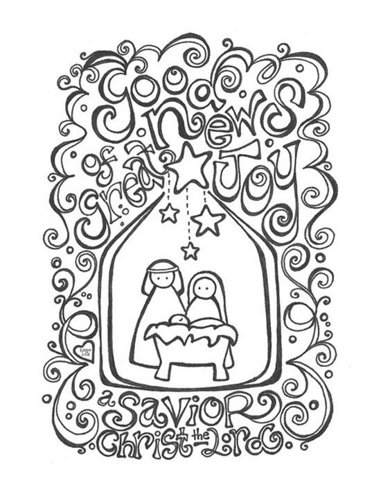 Image result for christmas colouring pages for adults Christmas - new simple nativity scene coloring pages