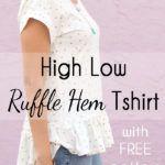 La camiseta de la colmena del dobladillo - Alto Bajo Blanc Camiseta Hack