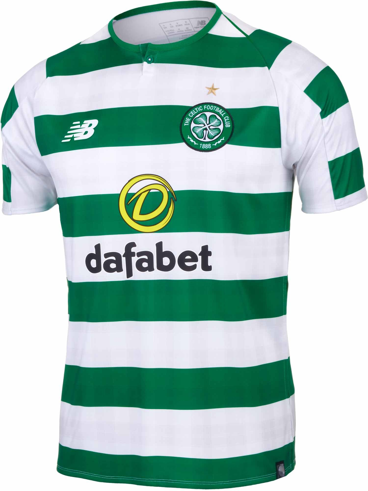 2018 19 New Balance Celtic Home Jersey. Buy yours from soccerpro.com 531b6d1c0dd4e