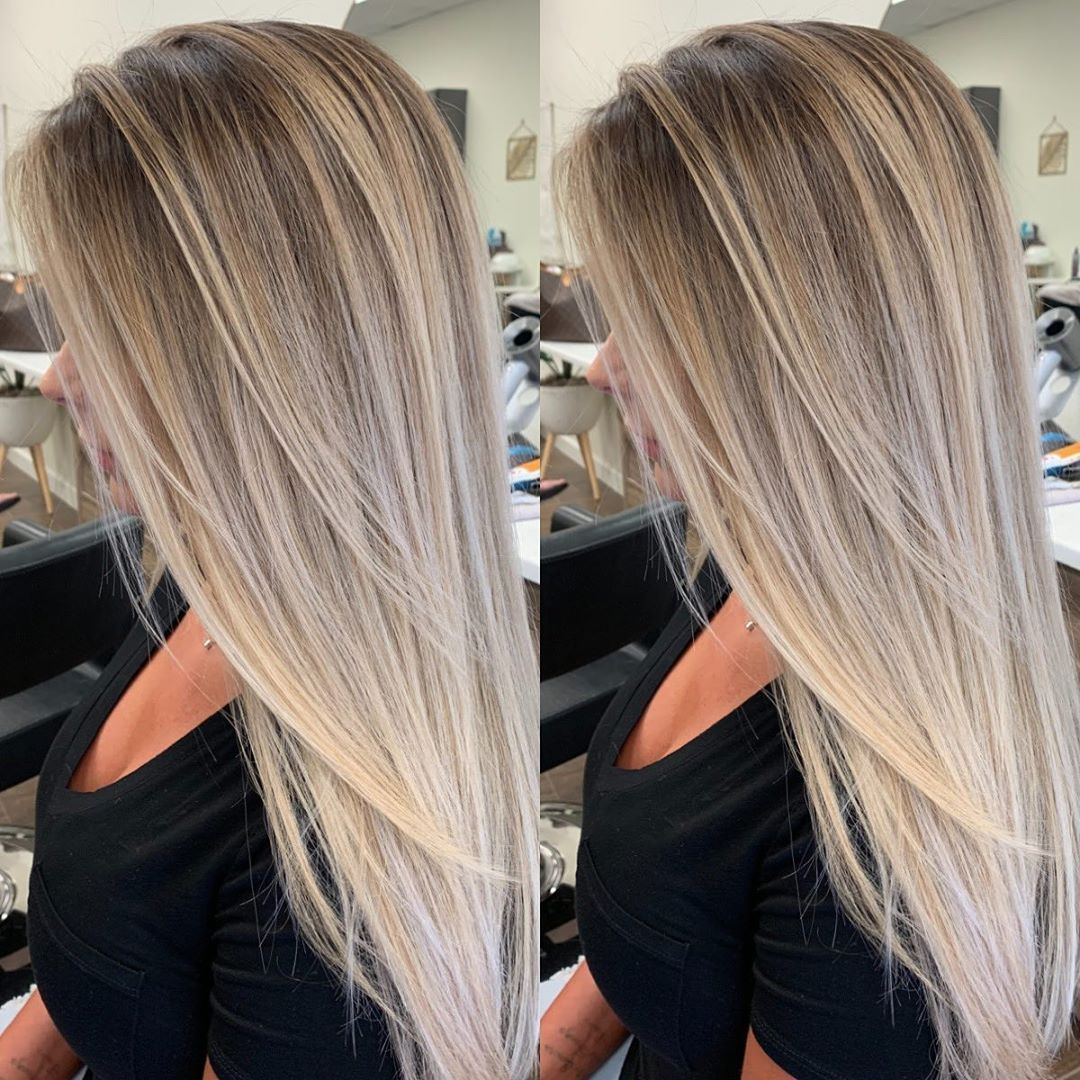 2019 Beauty Natural Blond Straight Wig In 2020 Hair Styles Ash