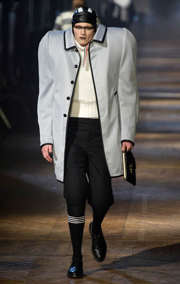 12843cea1a Paris Fashion Week wants Brad Pitt in thigh highs and a skull cap ...