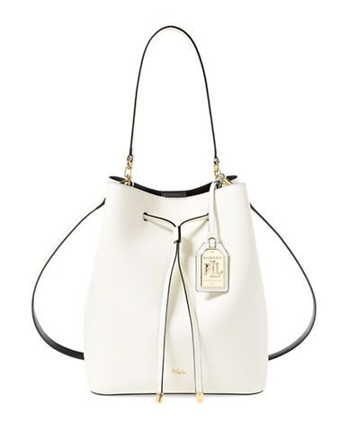 Lauren Ralph Lauren Medium Dryden Drawstring Bag Women's Vanilla ...