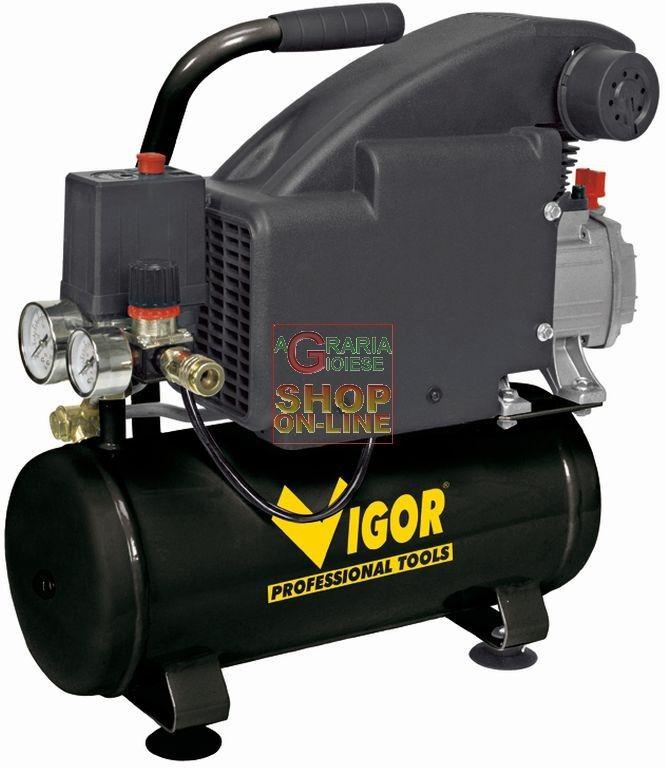 VIGOR COMPRESSORE ELETTRICO PORTATILE LT. 8 HP 1 http://www.decariashop.it/compressori/19297-vigor-compressore-elettrico-portatile-lt-8-hp-1.html